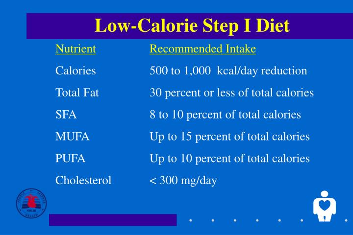 Low calorie step i diet