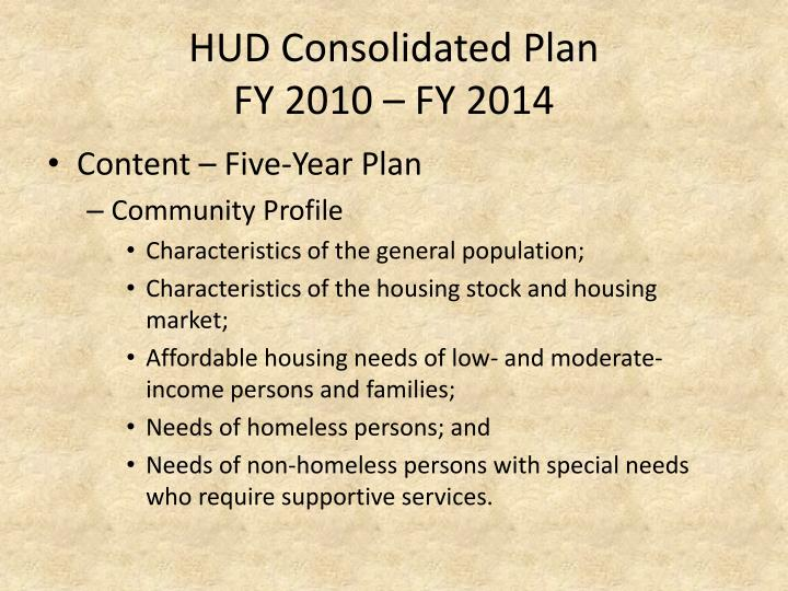 HUD Consolidated Plan