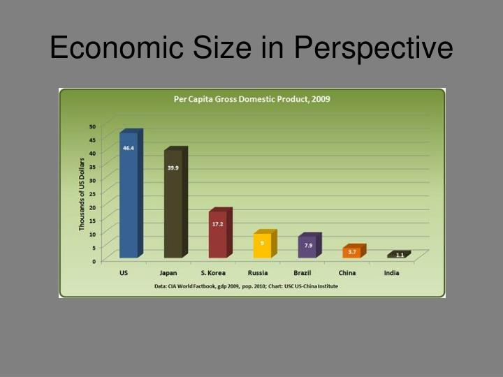Economic Size in Perspective