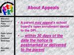 about appeals