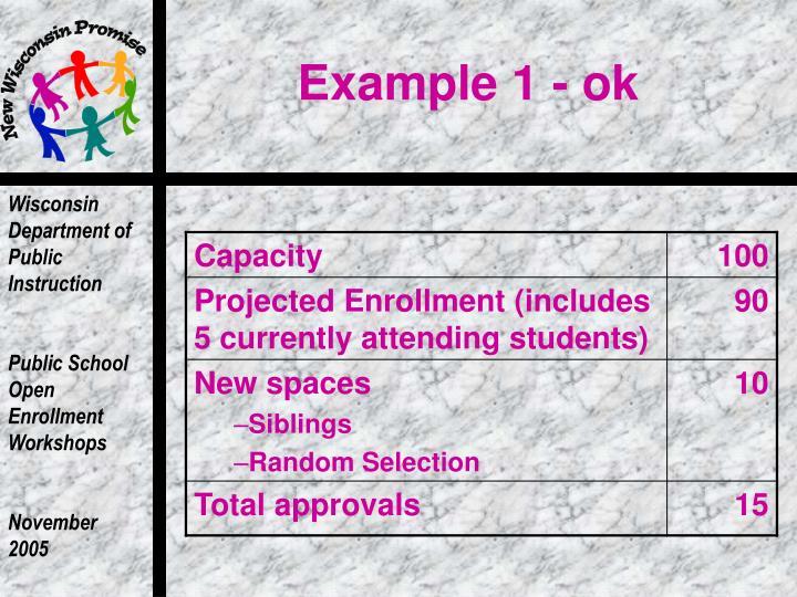 Example 1 - ok
