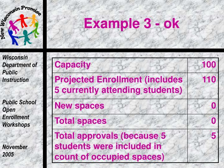 Example 3 - ok