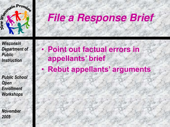 File a Response Brief