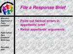 file a response brief