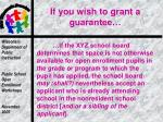 if you wish to grant a guarantee