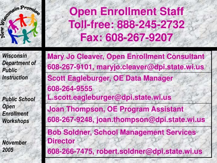 Open Enrollment Staff