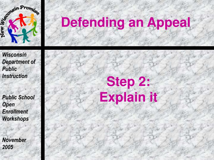 Defending an Appeal