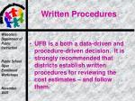 written procedures1