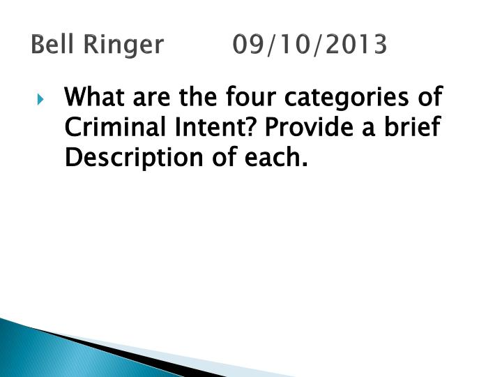 Bell Ringer 09/10/2013