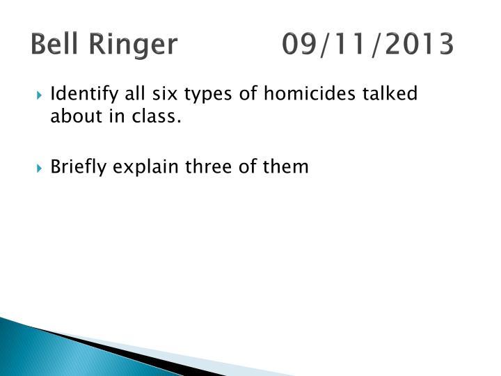 Bell Ringer09/11/2013