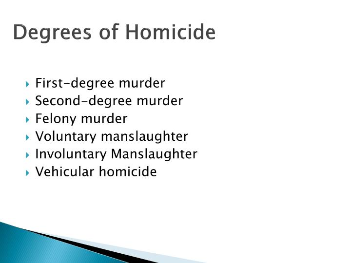 Degrees of Homicide