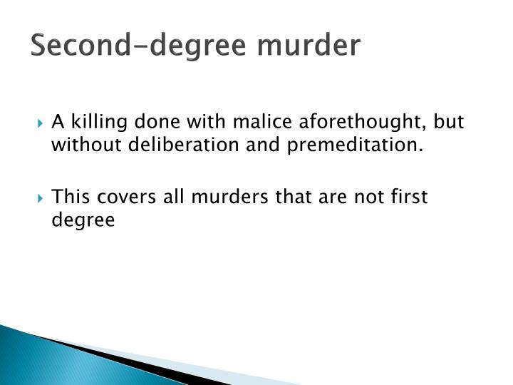 Second-degree murder