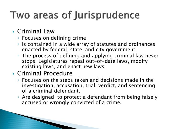 Two areas of Jurisprudence