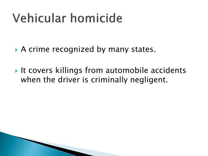 Vehicular homicide