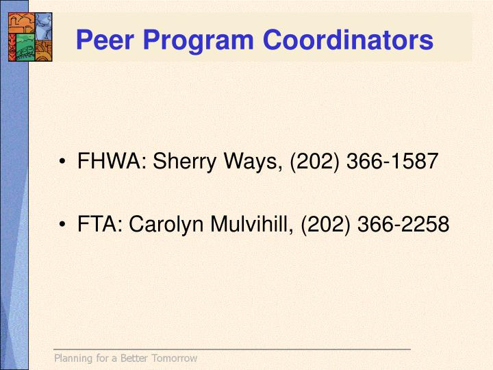 Peer Program Coordinators