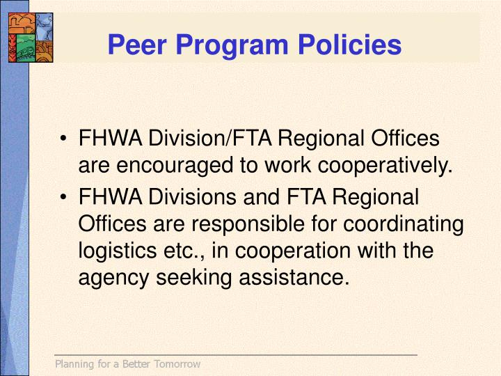 Peer Program Policies