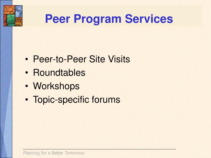 Peer Program Services