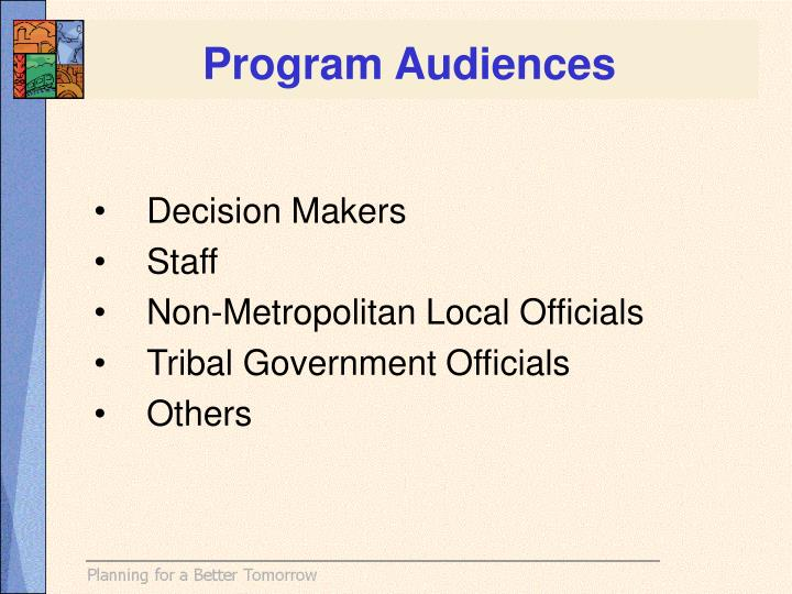 Program Audiences