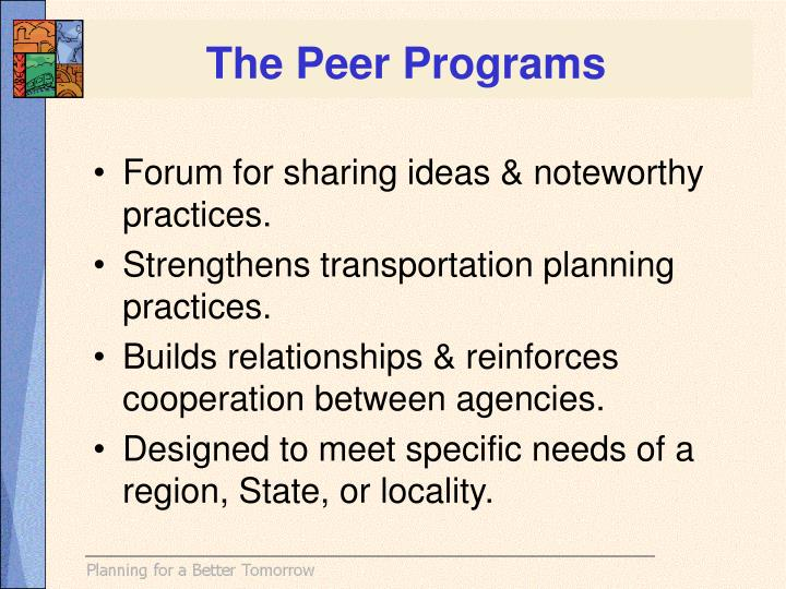 The Peer Programs