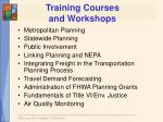 training courses and workshops