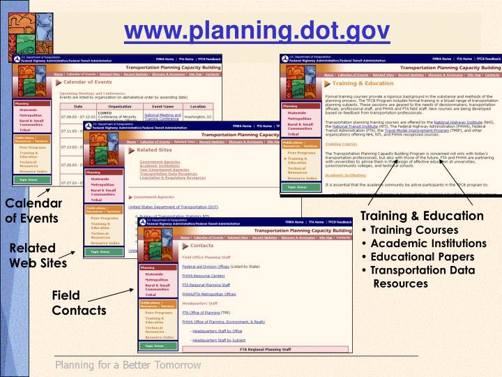 www.planning.dot.gov