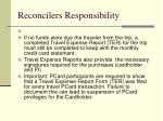 reconcilers responsibility