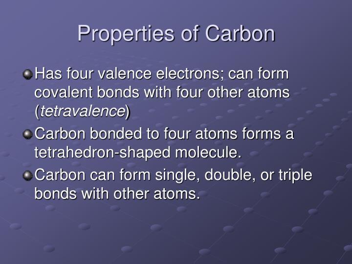 Properties of Carbon