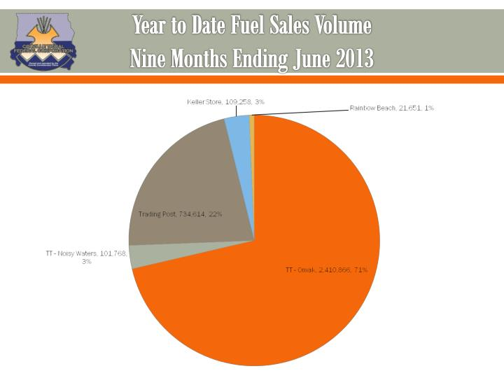 Year to Date Fuel Sales Volume