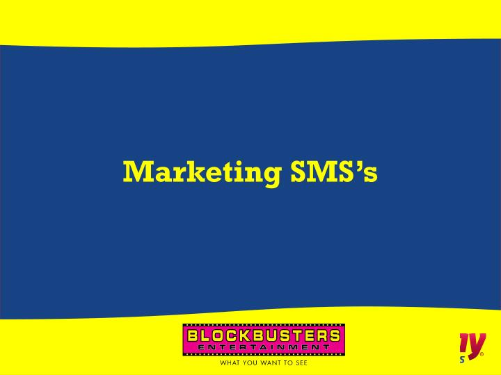Marketing SMS's