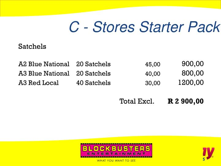C - Stores Starter Pack
