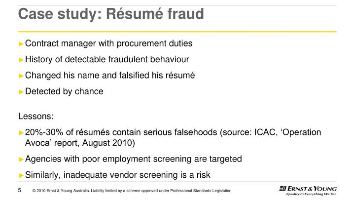 Case study: Résumé fraud