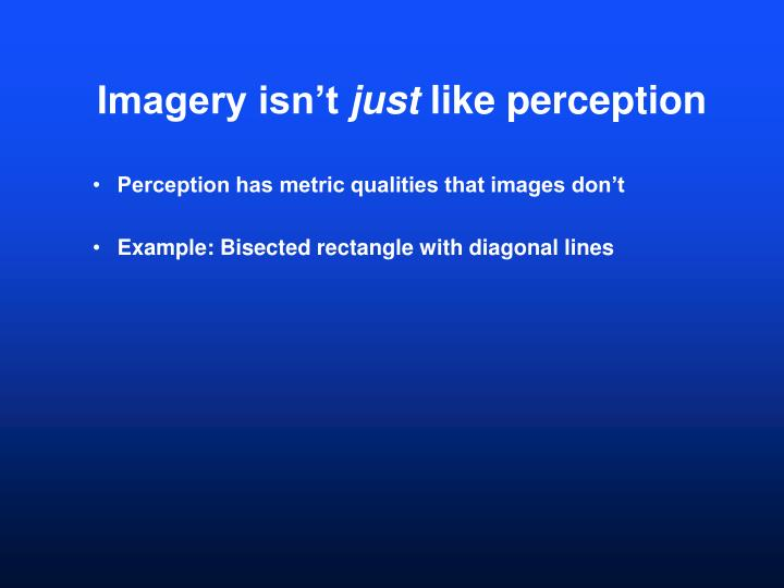 Imagery isn't