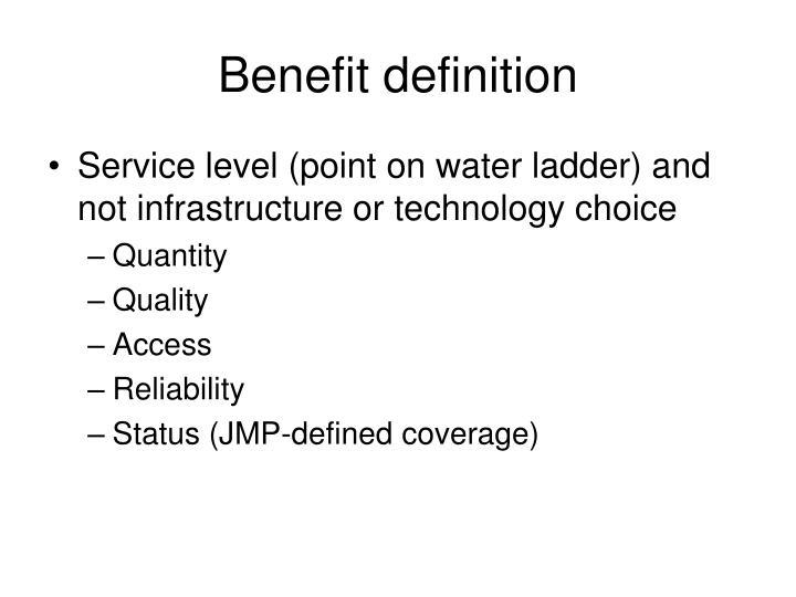Benefit definition