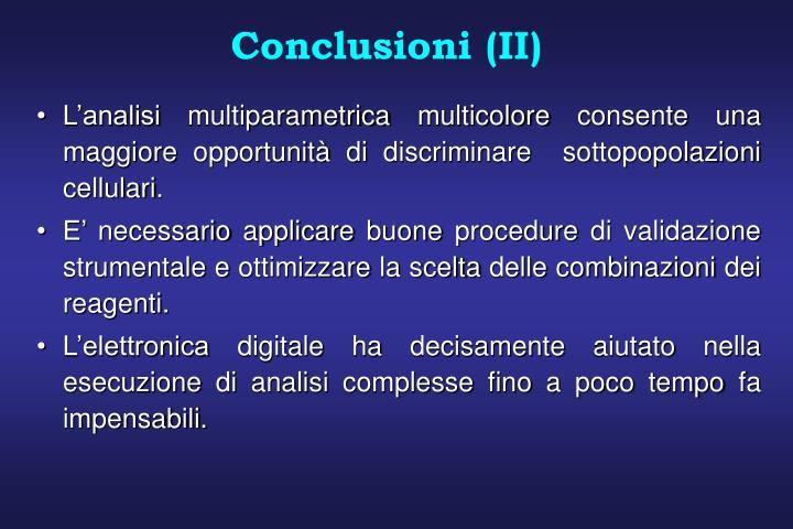 Conclusioni (II)
