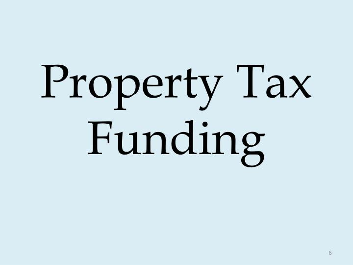 Property Tax Funding