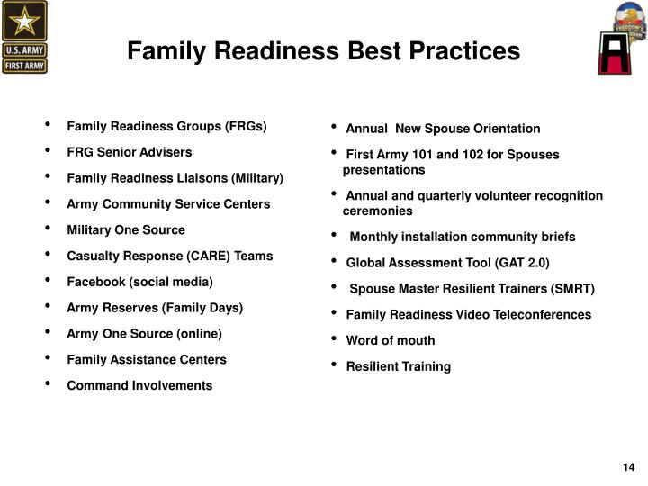 Family Readiness Best Practices