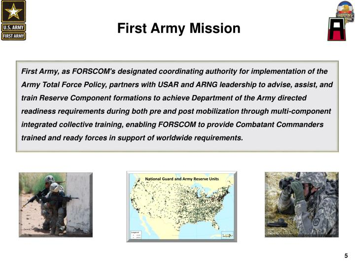 First Army Mission