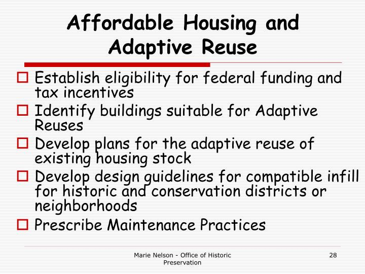 Affordable Housing and