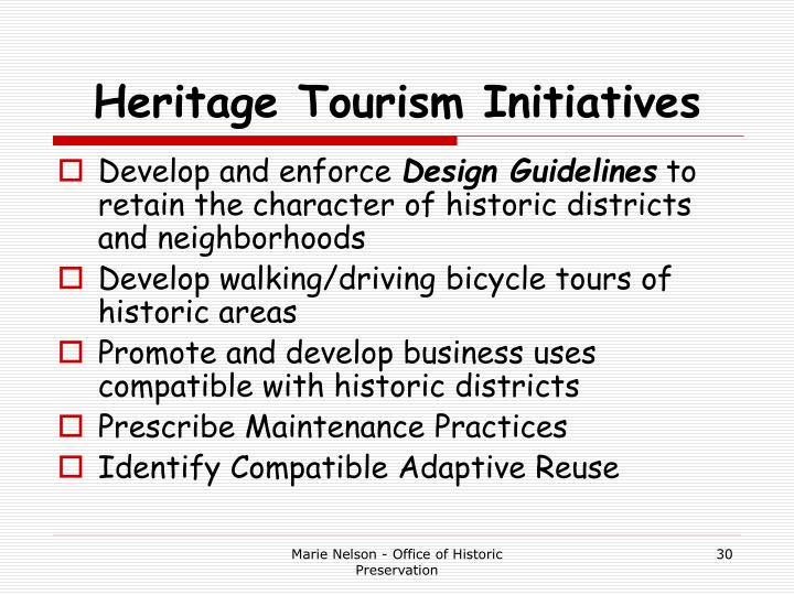 Heritage Tourism Initiatives
