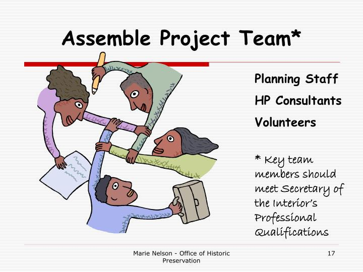 Assemble Project Team*