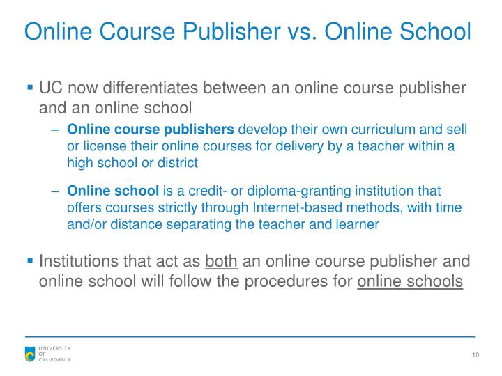 Online Course Publisher vs. Online School
