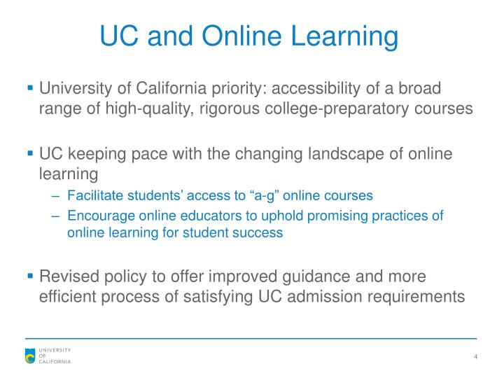 UC and Online Learning
