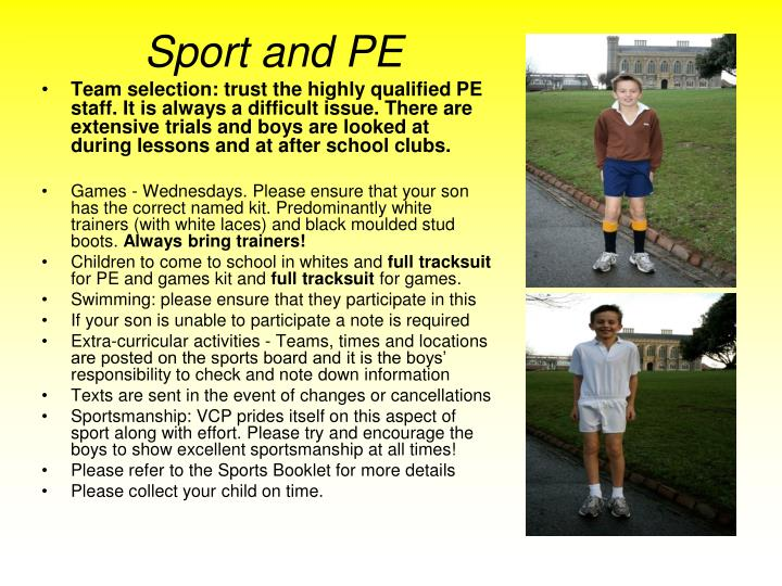 Sport and PE