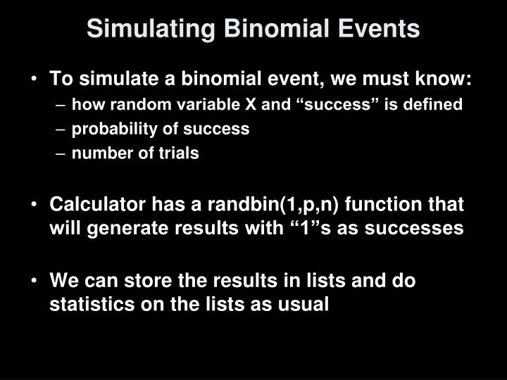 Simulating Binomial Events