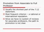 promotion from associate to full professor