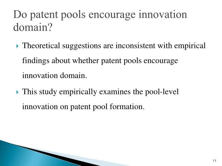 Do patent pools encourage innovation domain?