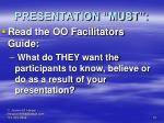presentation must