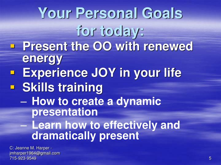 Your Personal Goals