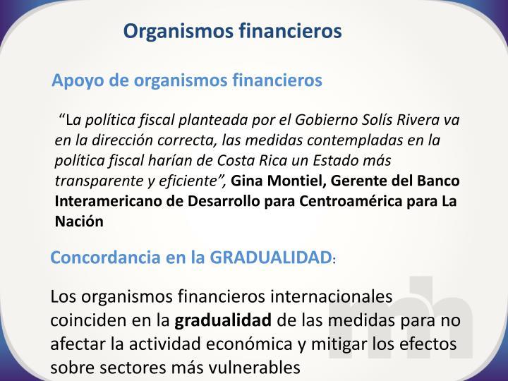 Organismos financieros