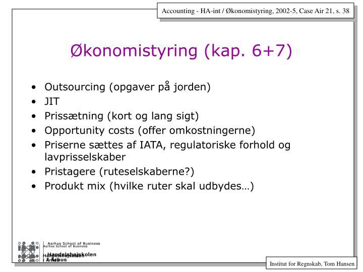 Økonomistyring (kap. 6+7)